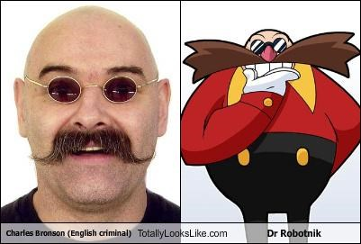 Charles Bronson (English criminal) Totally Looks Like Dr Robotnik