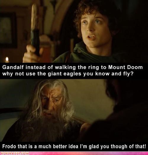 """But We Have to Make These Films Longer, Frodo!  It Ups Our Oscar Chances!"""