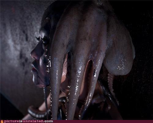 gross,Japan,octopus,slime,squid,woman,wtf