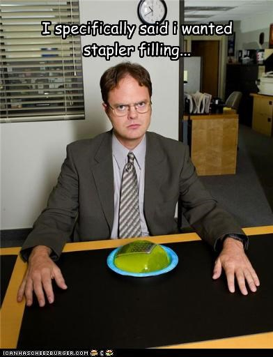 I specifically said i wanted stapler filling...