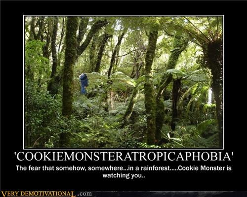 Cookie Monster,Hall of Fame,jungle,rainforest,science,Terrifying