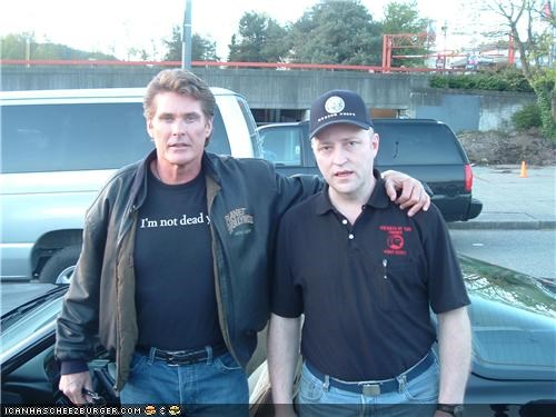 "I Am SOOO Excited To Meet ""The Hoff""!!!!"