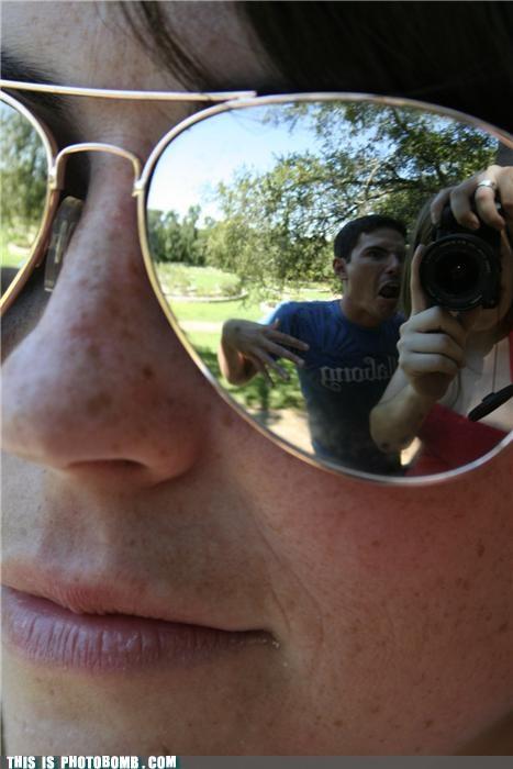 awesome,camera,cool,meta,photobomb,sunglasses