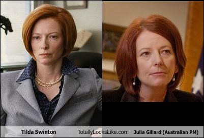 Tilda Swinton Totally Looks Like Julia Gillard (Australian PM)