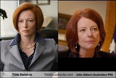 actress,australia,Julia Gillard,prime minister,tilda swinton
