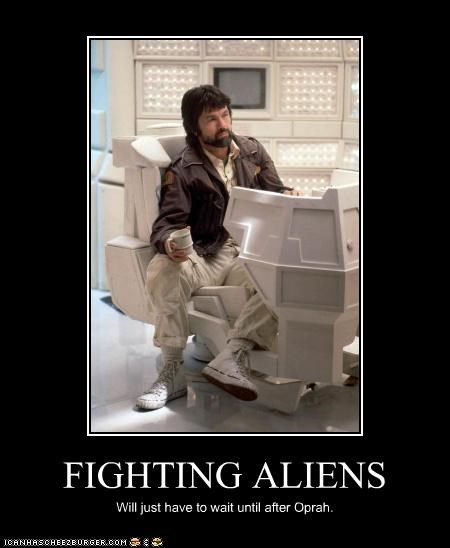 FIGHTING ALIENS