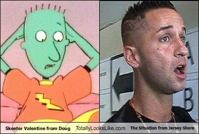 Skeeter Valentine from Doug Totally Looks Like The Situation from Jersey Shore