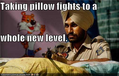 Taking pillow fights to a whole new level.