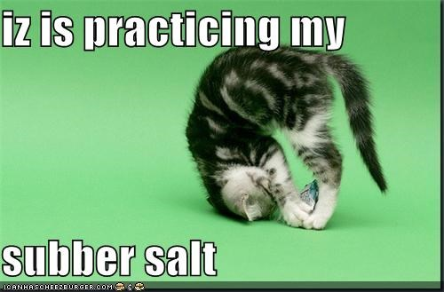 iz is practicing my   subber salt