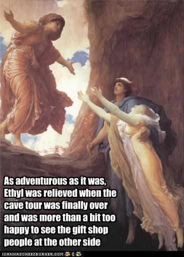 As adventurous as it was, Ethyl was relieved when the cave tour was finally over and was more than a bit too happy to see the gift shop people at the other side
