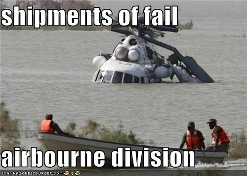 shipments of fail  airbourne division