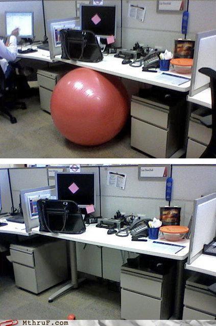 downsize,exercise ball,joke,stress ball