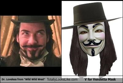 "Dr. Loveless from ""Wild Wild West"" Totally Looks Like V for Vendetta Mask"