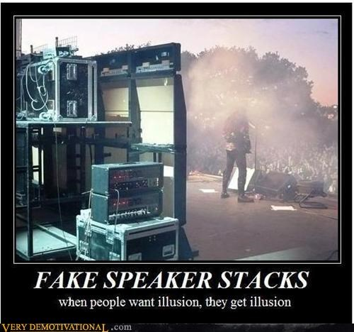 FAKE SPEAKER STACKS