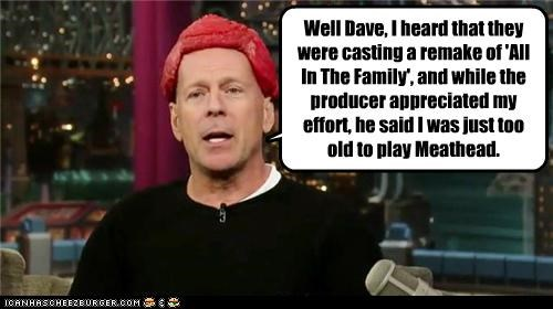 actor,all in the family,bruce willis,lady gaga,lolz,meat,meat dress