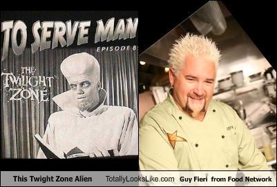 This Twight Zone Alien Totally Looks Like Guy Fieri  from Food Network