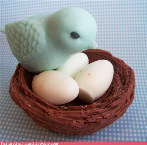 Blue Bird Soap Nest Set