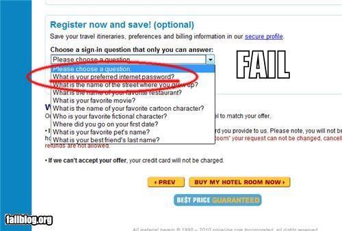 Security Question FAIL