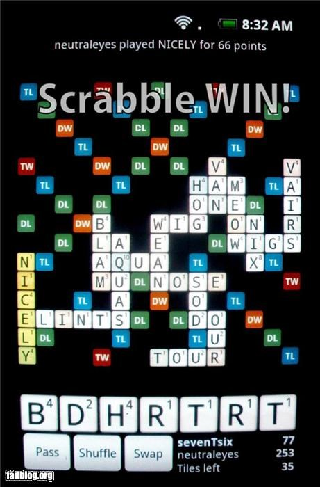 Scrabble WIN!