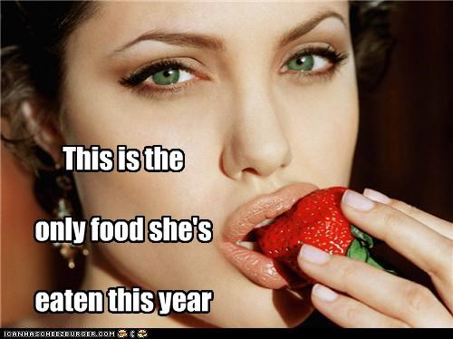 This is the  only food she's  eaten this year