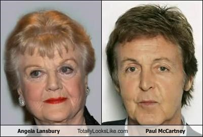 Angela Lansbury Totally Looks Like Paul McCartney