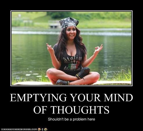 EMPTYING YOUR MIND OF THOUGHTS