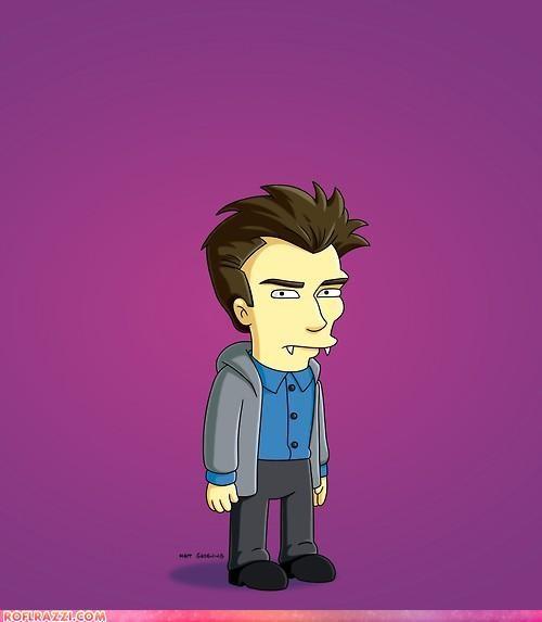 Daniel Radcliffe,edward cullen,Extras,the simpsons,twilight,vampires