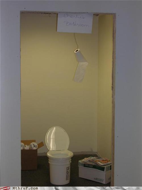 bathroom,intern,office prank,toilet paper