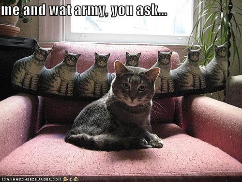 me and wat army, you ask...