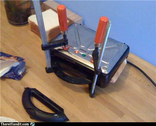 clamps,kitchen,sandwich,toaster