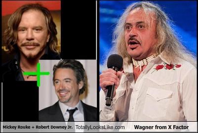 Mickey Rouke + Robert Downey Jr. Totally Looks Like Wagner from X Factor