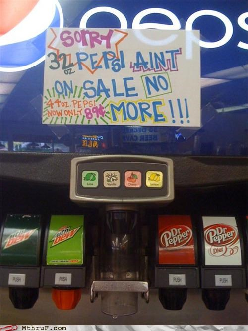 gas station,notes,refills,signs,soda