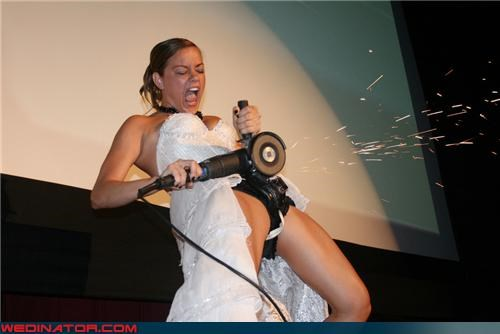 bride with power tools,confused,crazy bride picture,Crazy Brides,eww,fashion is my passion,funny chastity belt picture,funny wedding photos,technical difficulties,upskirt,wtf,wtf is this,yikes