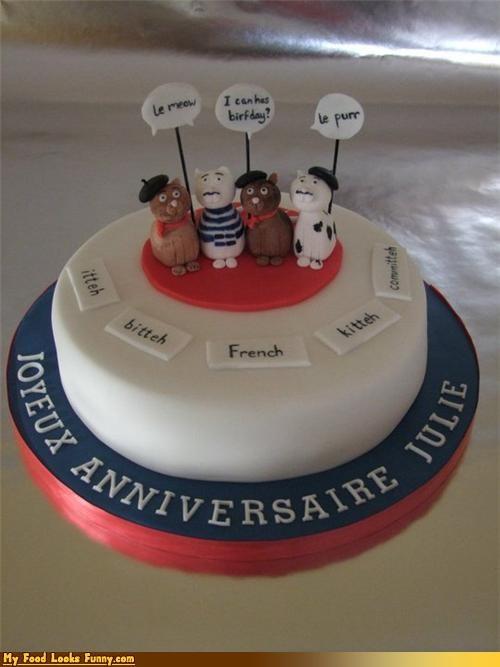 cake,Cats,fondant,french,snobs,Sweet Treats