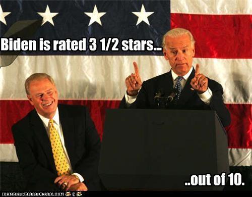 Biden is rated 3 1/2 stars...