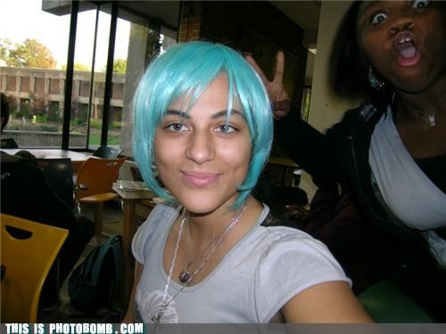 anime,awesome,awesome face,expression,girls,photobomb cool hair