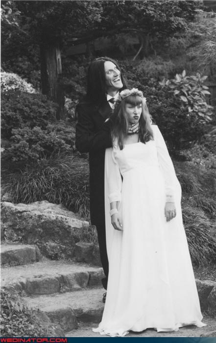 90s,black and white,Crazy Brides,crazy groom,crazy wedding picture,creepy groom,fashion is my passion,funny wedding photos,groom choking wife,halloween,long black hair,scary groom,surprise,were-in-love,Wedding Themes,wtf
