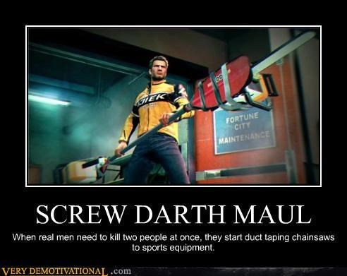 awesome,chainsaws,darth maul,Dead Rising,Dead Rising 2,Pure Awesome,sports,Videogames