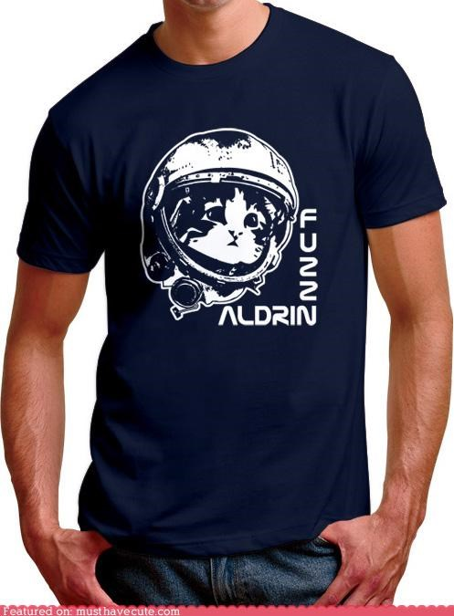 astronaut,clothing,fuzz aldrin,kitty,shirt,tshirt