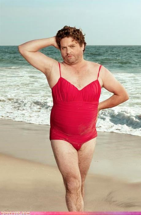 And Now, Here's Zach Galifianakis in a Lady's Swimsuit