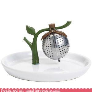 Sprout Tea Infuser and Saucer