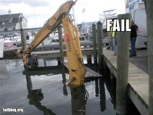 Backhoe Fail