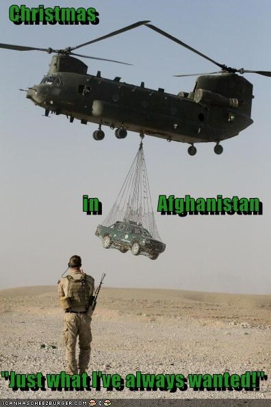 """Christmas                      in               Afghanistan """"Just what I've always wanted!"""""""