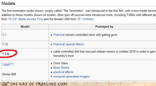 Chile,drill,gaining our trust,miners,terminator,wikipedia