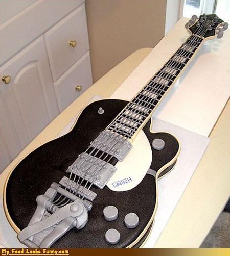 black,cake,gretsch,guitar,Sweet Treats,white