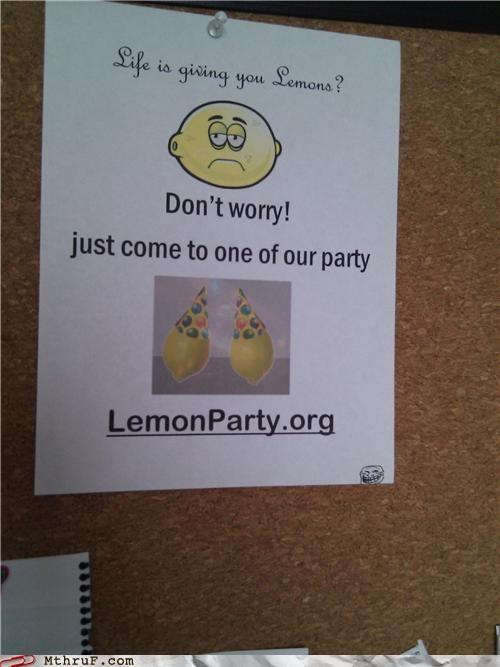 gross,lemon party,lemons,Sad,signs