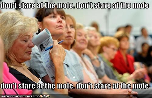 don't stare at the mole. don't stare at the mole  don't stare at the mole. don't stare at the mole