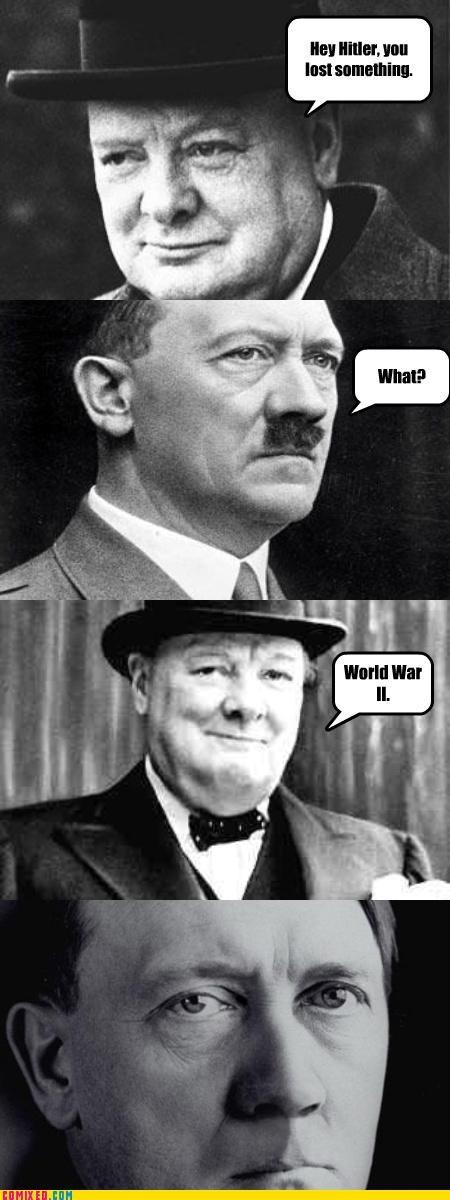 adolf hitler,lost,mustaches,politics,the game,winston churchill,world war 2