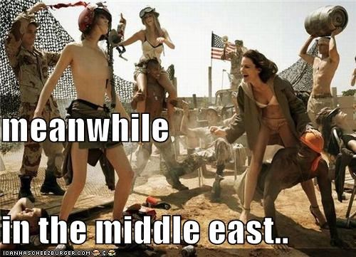 meanwhile in the middle east..