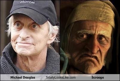 Michael Douglas Totally Looks Like Scrooge